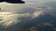 Stock Video Footage of Plane flying over the clouds 5