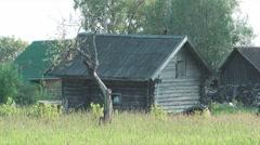 Russian summer rural landscape. Stock Footage