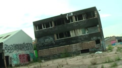 Urban Decay Derelict Disused Building Stock Footage