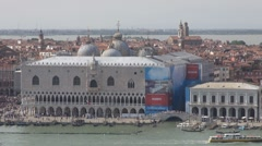 Aerial view of Palazzo Ducale - stock footage