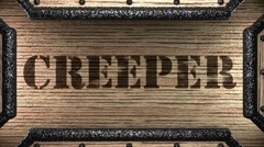 Creeper on wooden stamp Stock Footage