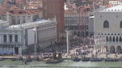 Aerial view of Piazza San Marco, Palazzo Ducale - stock footage
