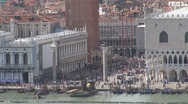 Stock Video Footage of Aerial view of Piazza San Marco, Palazzo Ducale