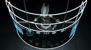 Futuristic Robot Touchscreen Technology Stock Footage