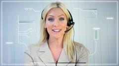 Modern Business Using Future Touchscreen Technology Stock Footage