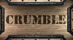 Stock Video Footage of crumble on wooden stamp