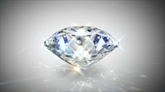 Shiny diamond with caustics- loopable cg animation Stock Footage