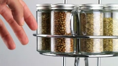 Spice rack and cook Stock Footage