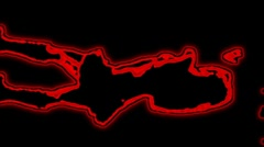 04- Vertical HD sexy dancer silhouette - red neon on black - stock footage