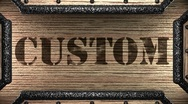 Custom on wooden stamp Stock Footage