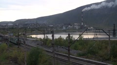 Train, Hibiny, Kirovsk, industry Stock Footage