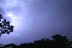 Tropical Jungle Thunderstorm blue cloud to cloud lightning 4x3 Stock Footage