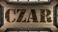 Czar on wooden stamp Stock Footage