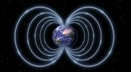 Stock Video Footage of Magnetic Field as Shield Around the Earth in Space
