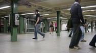 New York Metro Time Lapse 04. Stock Footage