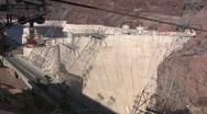 Hoover Dam between Arizona and Nevada Stock Footage