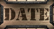 Date on wooden stamp Stock Footage