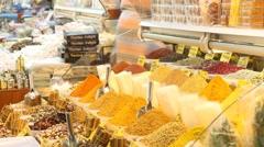 Egypt bazaar interior Stock Footage