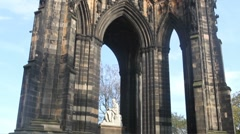 Scott Monument Edinburgh Scotland Stock Footage