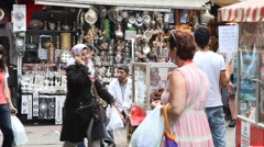 Shopping district at Egypt bazaar Stock Footage