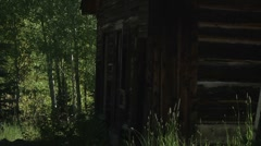 Old cabins Stock Footage