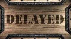 delayed on wooden stamp - stock footage