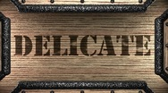 Delicate on wooden stamp Stock Footage