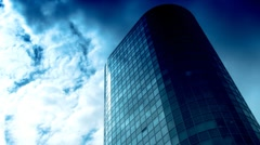 stock video footage Corporate building timelapse - stock footage