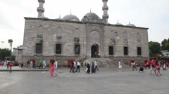 Yeni Cami mosque - stock footage