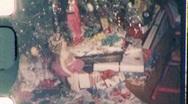 WONDERFUL Christmas Presents GIFTS Under Xmas Tree 1950s Vintage Home Movie 720 Stock Footage