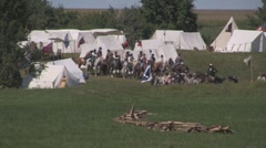 Stock Footage - Confederate Army marches out of camp - Cavalry Stock Footage