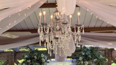 Stock Video Footage of wedding ceremony decorations 02
