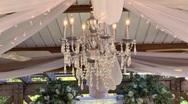 Wedding ceremony decorations 02 Stock Footage