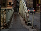 Crossing the bridge Stock Footage