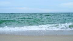 Stock Video Footage of Azov sea, waves touching sandy beach