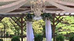 Wedding ceremony decorations 03 Stock Footage
