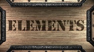 Elements on wooden stamp Stock Footage
