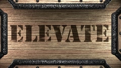 Stock Video Footage of elevate on wooden stamp
