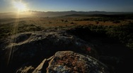 Sunrise over Skilpad Flower Valley Stock Footage