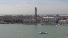 Aerial view of Piazza San Marco, Palazzo Ducale Stock Footage