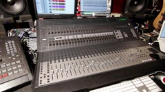 Home Recording Studio console 07 Stock Footage