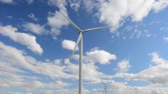 Wind-powered generators Stock Footage