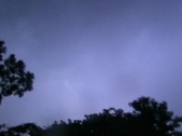 Stock Video Footage of Blue Tropical Jungle Thunderstorm cloud to cloud lightning -4x3