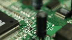Motion Control Modern Future Technology Inside of Desktop PC Components Circuits Stock Footage