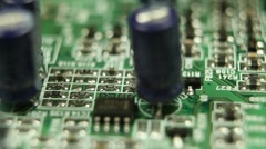 Closeup Futuristic Mainboard Engineer Ultra Tech Board Rotate Smooth Rotation  Stock Footage
