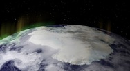 Aurora Borealis (Northern Lights) over the polar cap of the Earth  Stock Footage