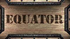 equator on wooden stamp - stock footage