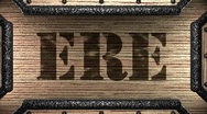 Ere on wooden stamp Stock Footage