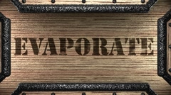 Stock Video Footage of evaporate on wooden stamp