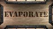 Evaporate on wooden stamp Stock Footage